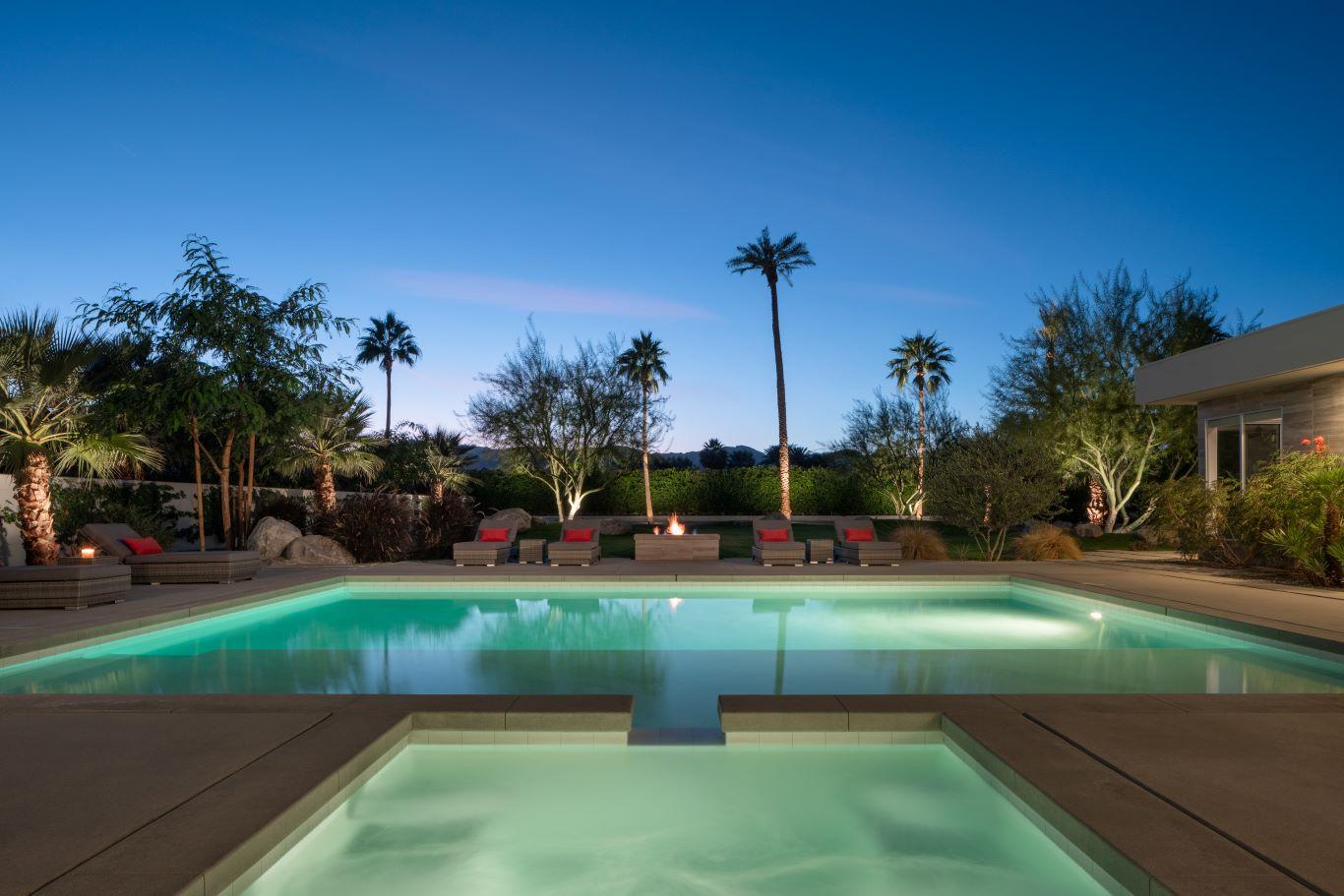 Pool & Spa at Night