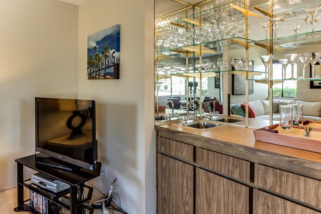 Wet Bar in Living Area