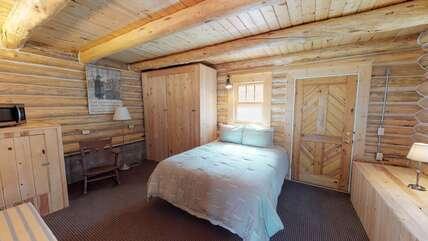Bottom half of the split level cabin - has one queen bed