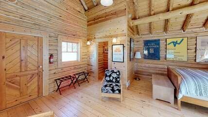 Top half of the split level cabin