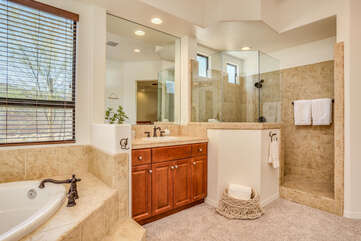 Master Ensuite with Dual Vanities and Walk in Shower