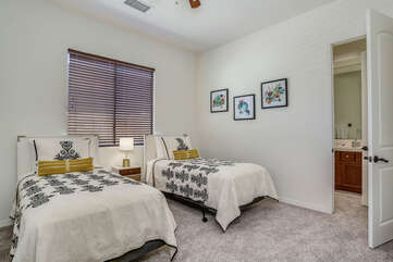 Twin Guest Bedroom with Jack / Jill Shared Bath