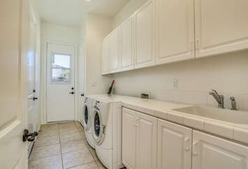 Laundry Room with Front Loading Equipment