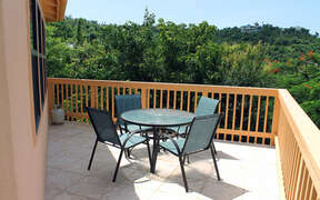 Outdoor dining and patio with amazing views