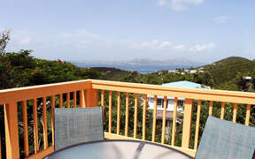 Great views of St. Thomas from the alfresco dining area