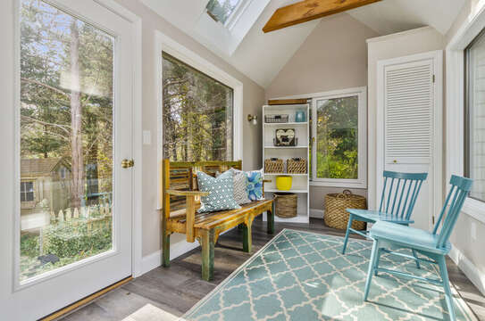 Sitting area from breeze way entrance 50 Blue Heron Eastham Cape Cod - New England Vacation Rentals