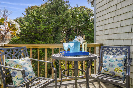Private Deck off of bedroom 3.50 Blue Heron Eastham Cape Cod - New England Vacation Rentals