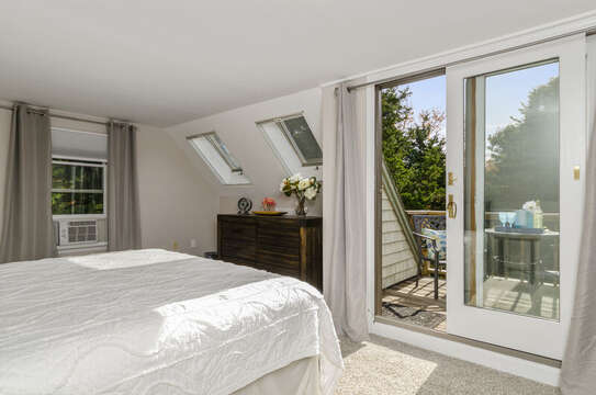 Sliders to private deck off bedroom 3 king bedroom  50 Blue Heron Eastham Cape Cod - New England Vacation Rentals