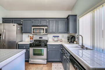 Gas Stove and Stainless Appliances
