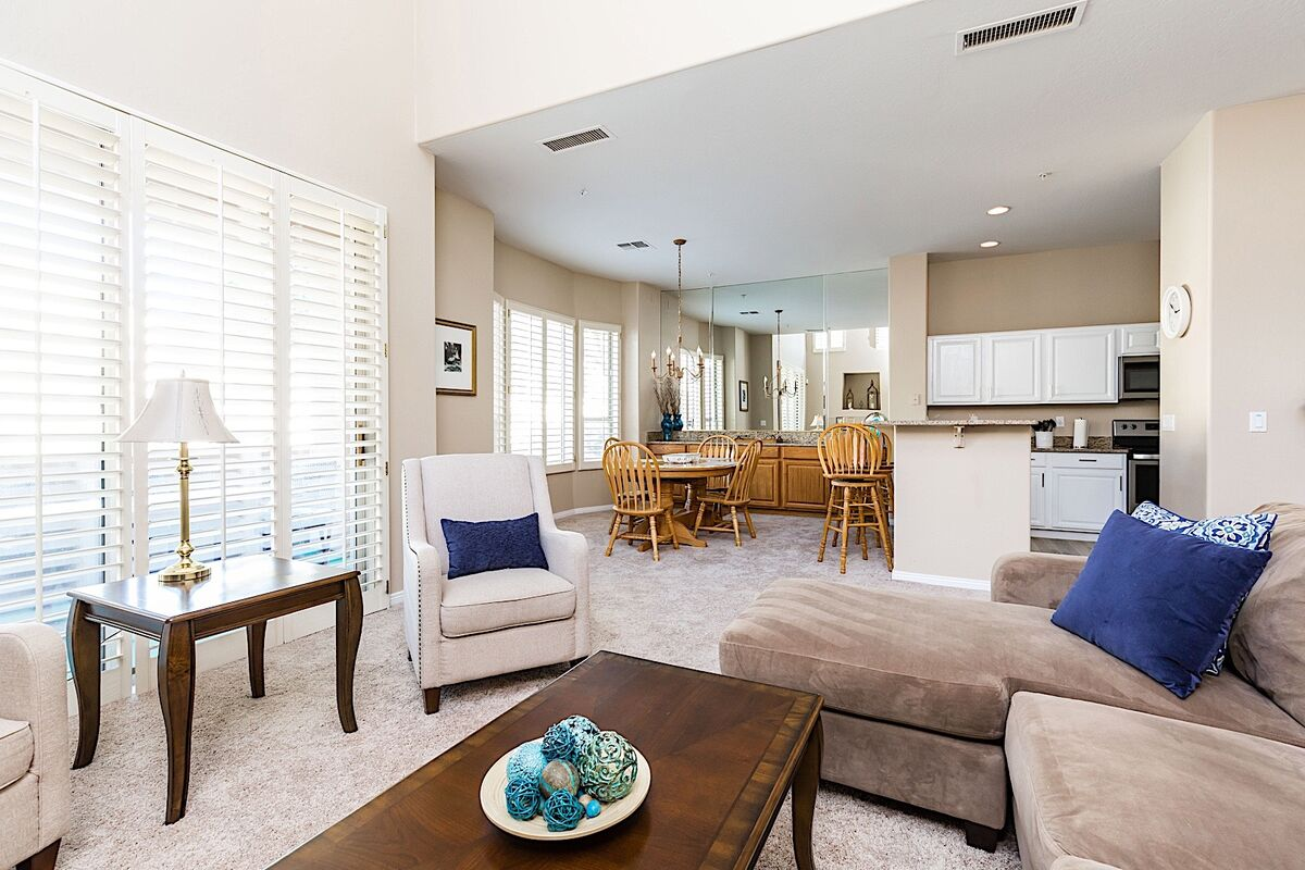 Open floor plan for keeping social with your guests
