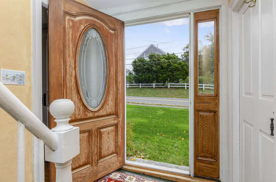 Front door entry-60 Sisson Road Harwich Port Cape Cod New England Vacation Rentals