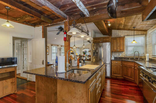 Fully equipped kitchen with Dishwasher-Island -indoor grill- everything the chef could want-60 Sisson Road Harwich Port Cape Cod New England Vacation Rentals