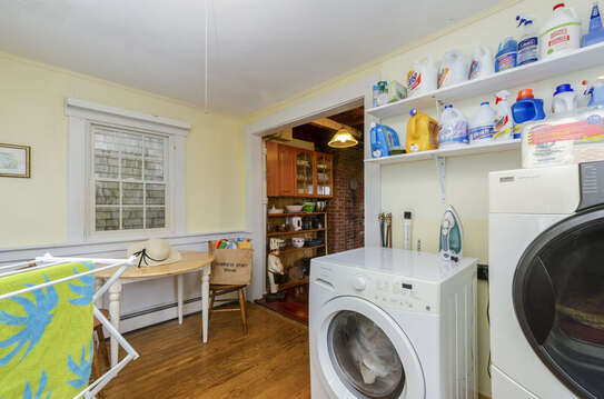 Laundry off kitchen on first flkoor-60 Sisson Road Harwich Port Cape Cod New England Vacation Rentals
