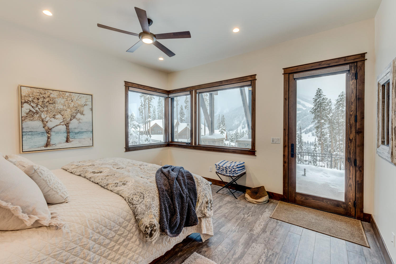 Master bedroom suite with amazing views
