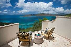 Views of Peter Bay from the deck of one of Villa Nonnas master bedrooms