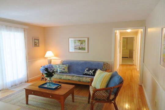 Den with Queen size futon -and view down hall to bedrooms-30 Chatham Crest Drive Chatham Cape Cod - New England Vacation Rentals