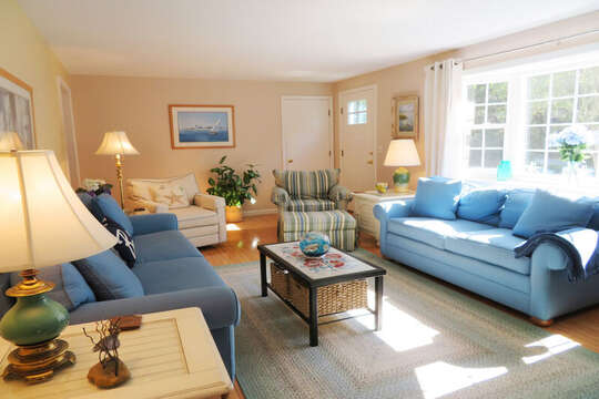 Comfy couches -plenty of seating-   30 Chatham Crest Drive Chatham Cape Cod - New England Vacation Rentals. Comfortable