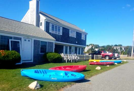 Rent a Kayak-SUP board or even a sailboat right at the Snack Bar and store- Ridgevale Beach Chatham Cape Cod - New England Vacation Rentals