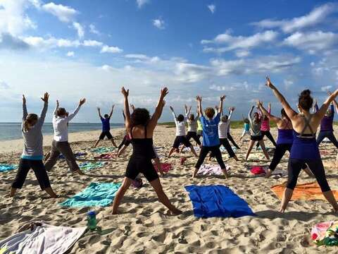 Early riser? Take a yoga class on Lighthouse beach - just bring a towel and $10! Chatham Cape Cod - New England Vacation Rentals