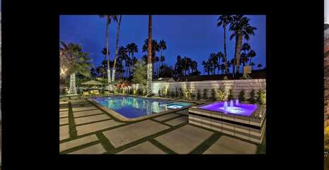 Sexy Backyard Fountain and Swimming Pool