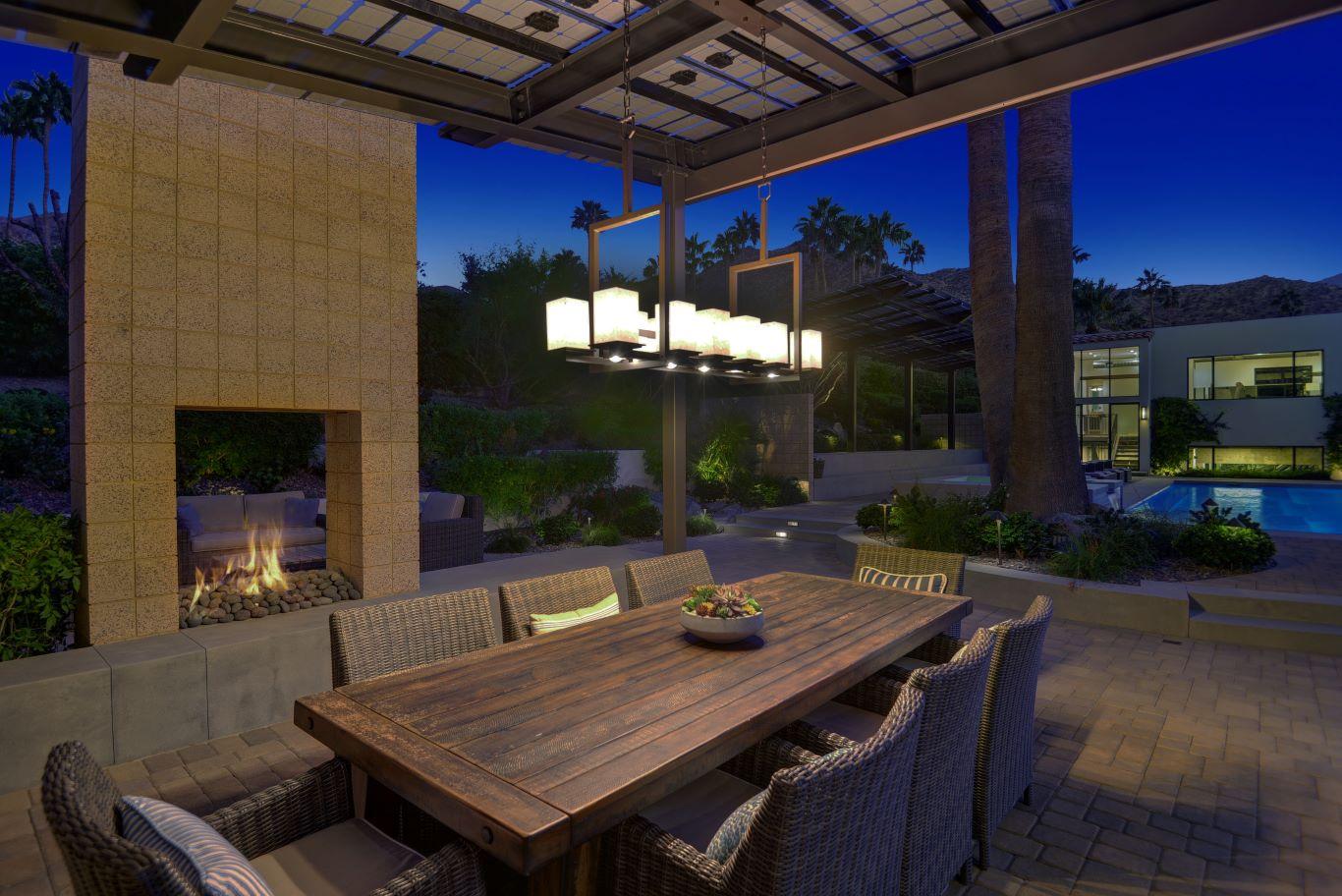 Patio Table - Night View