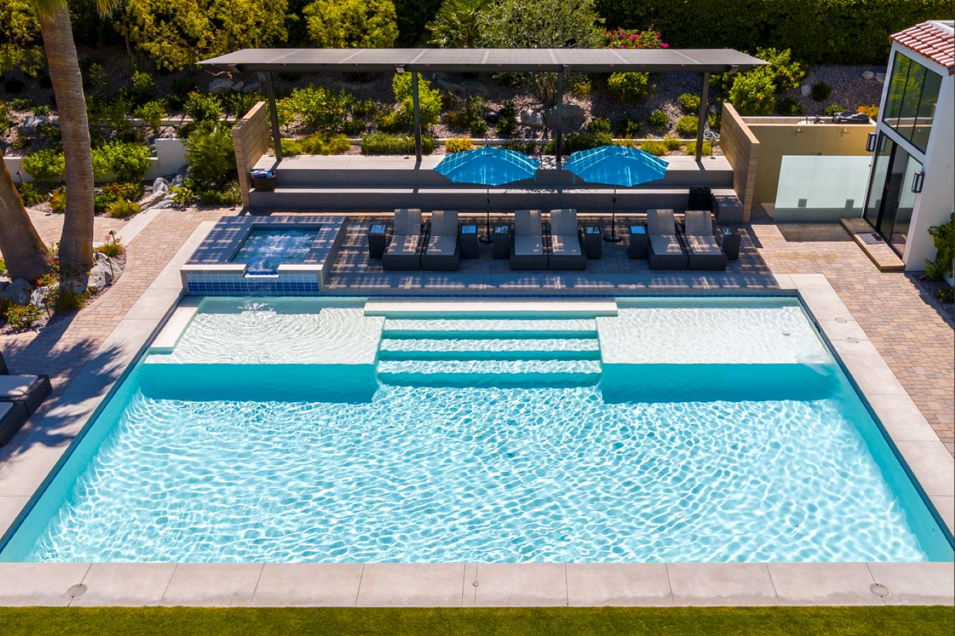 Overhead Pool View