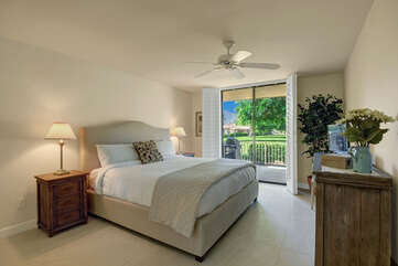 Master Suite with King Bed and Garden Views