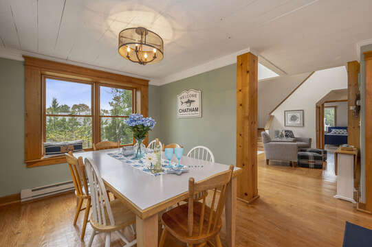 Dining area with seating for 8. 350 Barn Hill Road Chatham Cape Cod - New England Vacation Rentals