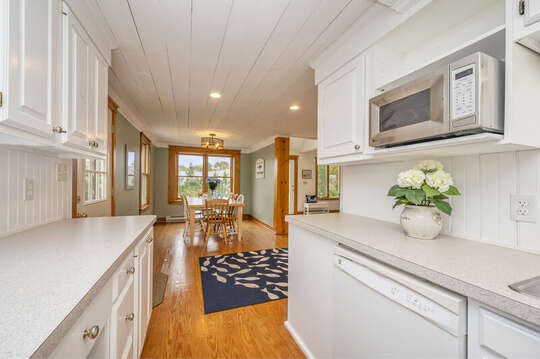 view from kitchen into dining area.  350 Barn Hill Road Chatham Cape Cod - New England Vacation Rentals