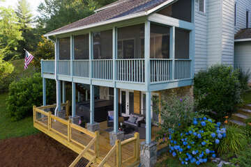 Screened Porch & Open Deck