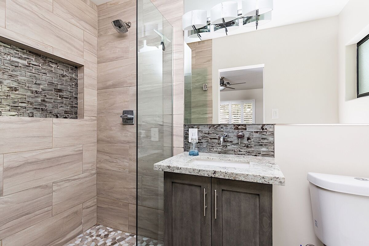 Master bathroom - Fully remodeled with walk-in shower