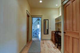 desk/office area in upstairs hallway