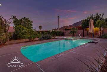 This home is right at the base of the La Quinta mountains with views from every angle