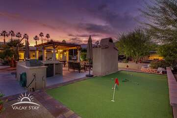 Brush up on your putting skills on the miniature golf course