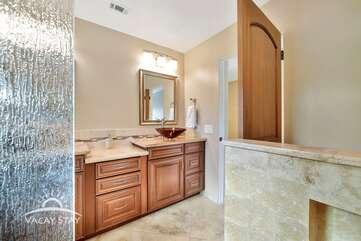 Huge step in shower master bathroom 1