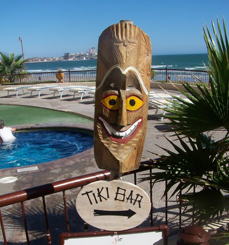Entrance to Tiki Bar.