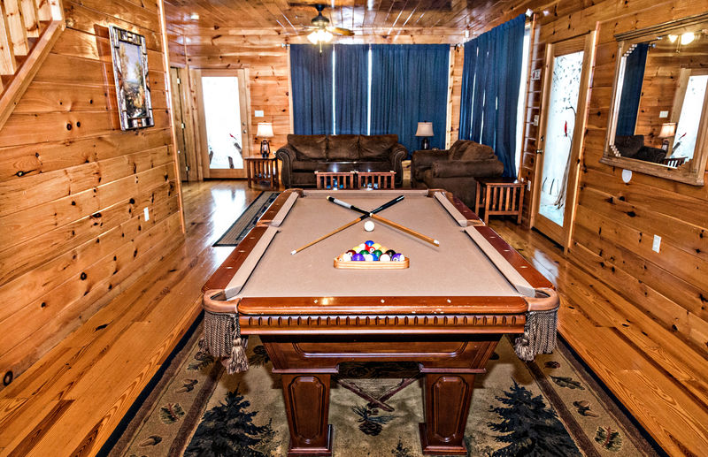 Large Nice Open Space with a Pool Table