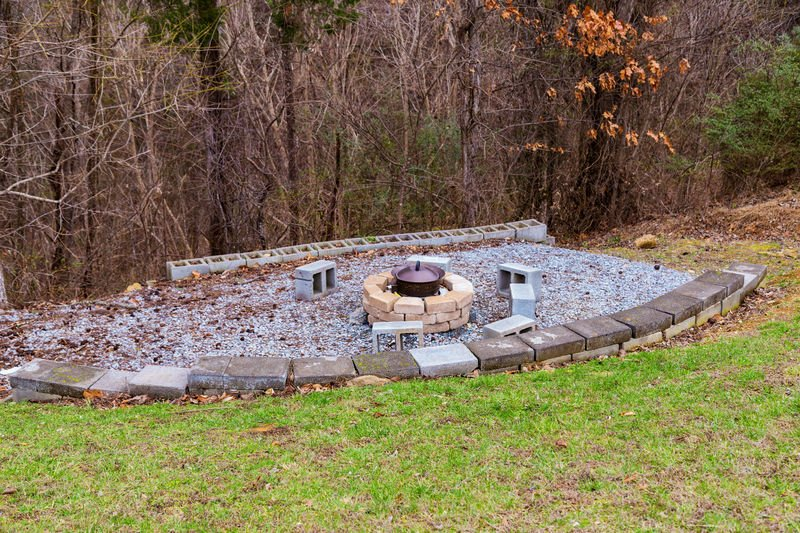 Nice Large and Open Fire Pit to sit around next to the Cabin in Gatlimburg