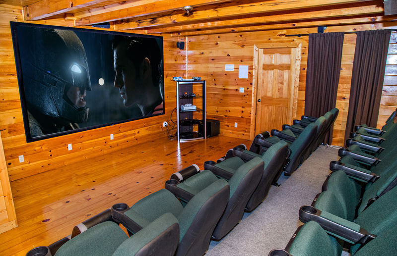 Private Home Theater with Cinema Seats.