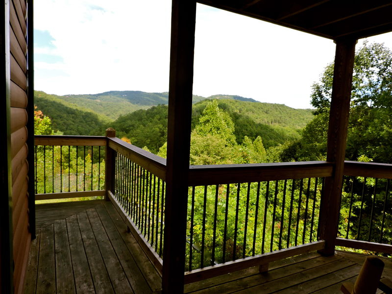 Mountain View from the Balcony of our Rental Cabin in Gatlinburg, TN.