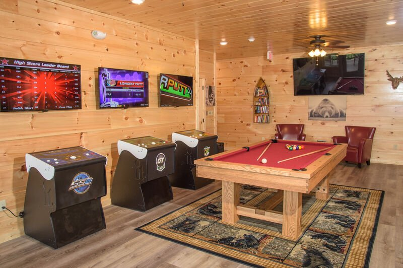 Cozy Game Room with Pool, Arcade Games, & Flat Screen TV