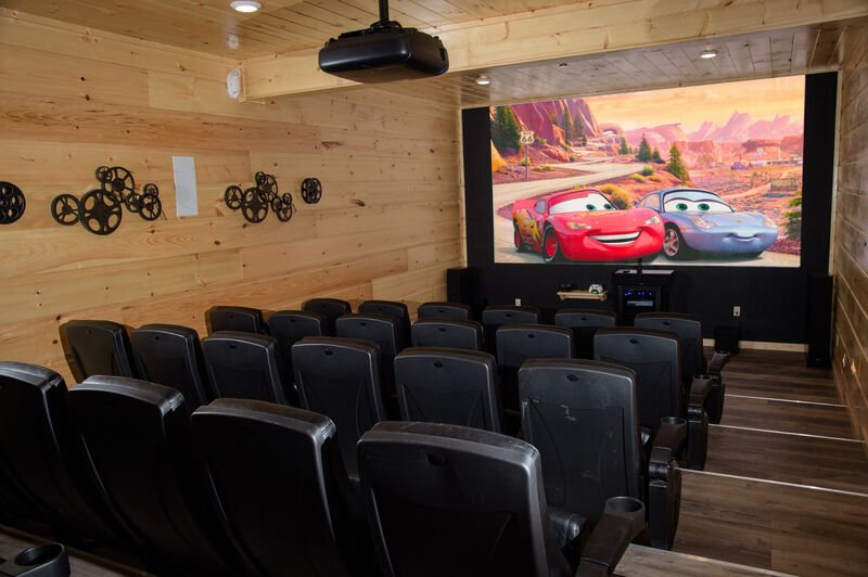 Home Theater Room in a Vacation Rental in Gatlinburg