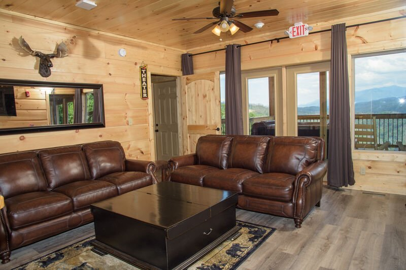 Bottom Level Sitting Room with View of Gatlinburg