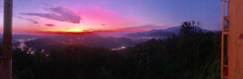 Colorful Sunrise at Mansion in the Sky in Gatlinburg