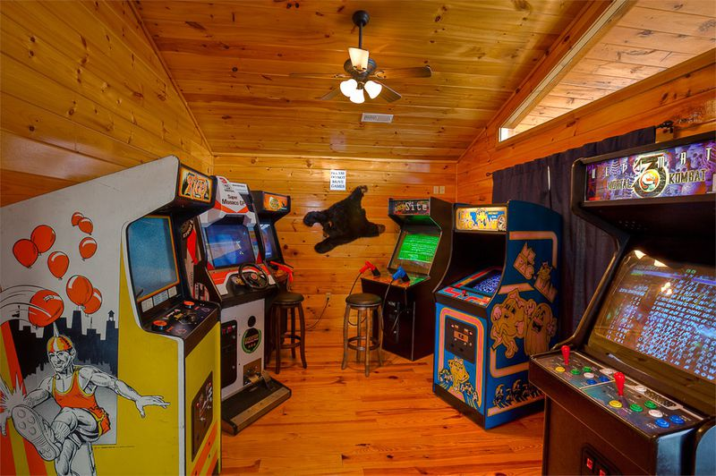 Full size Arcade Room With Five Machines