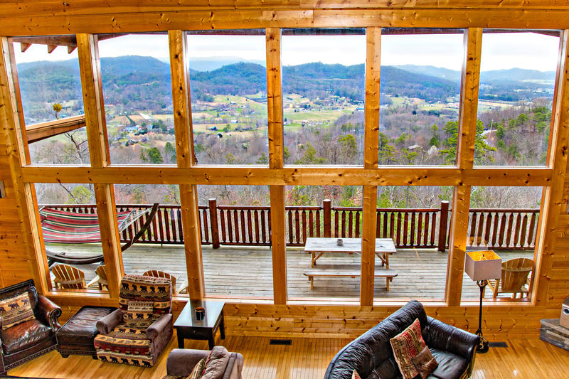 View from Loft overlooking the Mountains & Valley below