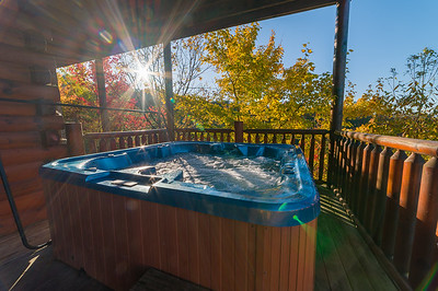Relax & take in the gorgeous Views in the Hot Tub