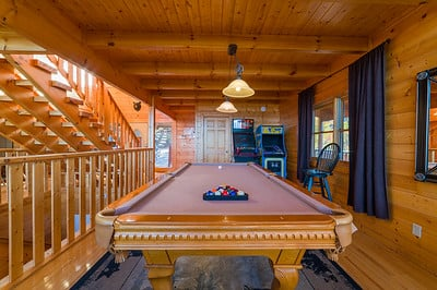 Pool Table & Arcade Games on main level