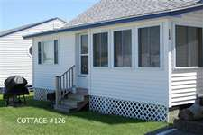 A front view of cottage #126.