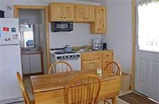 Our kitchen included coffee pot, lobster pots, cooking utensils, microwave and dishes for 8.